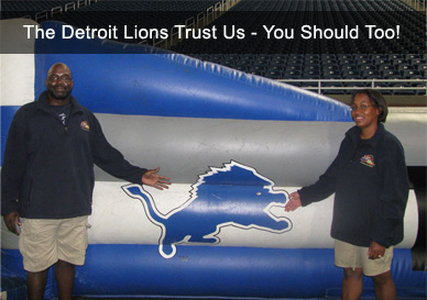 Sturdy Stitches Detroit Lions Inflatable Repair